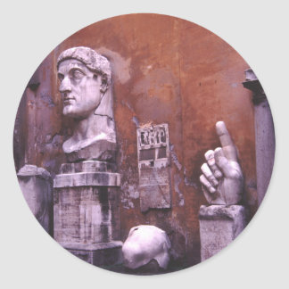 Sculpted Body Parts  Colossus of Constantine Rome Classic Round Sticker