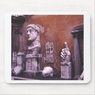 Sculpted Body Parts  Colossus of Constantine Rome Mouse Pad