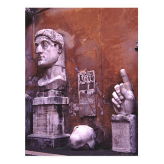 Sculpted Body Parts  Colossus of Constantine Rome Postcard