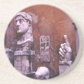 Sculpted Body Parts  Colossus of Constantine Rome Sandstone Coaster