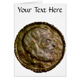 Sculpted Coin with Ancient Look Greeting Card