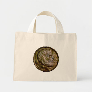 Sculpted Coin with Ancient Look Mini Tote Bag
