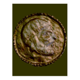 Sculpted Coin with Ancient Look Post Card