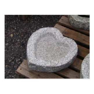 sculpted Heart shap bowls granite gry Postcard