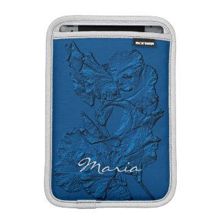 Sculpted Iris Petals, Blue-iPad Mini Sleeve