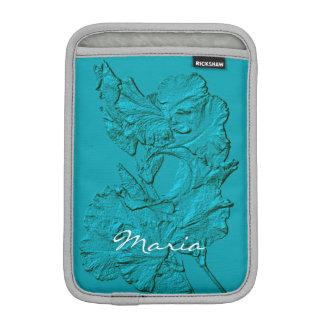 Sculpted Iris Petals, Soft Blue-iPad Mini Sleeve iPad Mini Sleeves