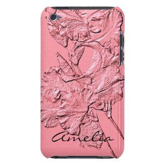 Sculpted Iris Petals, Soft Pink-Ipod Touch 4g Case