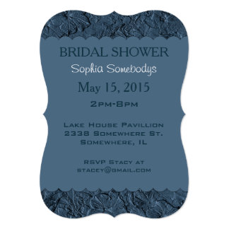 Sculpted Petunias Blue G-Party Invitation Template
