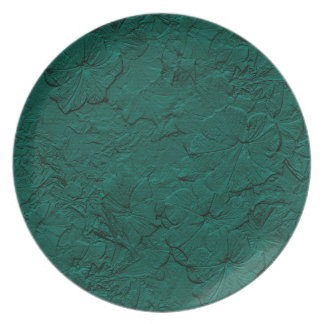 Sculpted Petunias, Jade Melamine Kitchen Plate