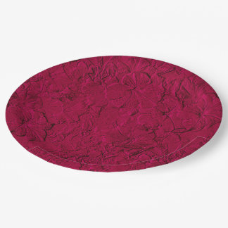 Sculpted Petunias Magenta-Paper Party Plates