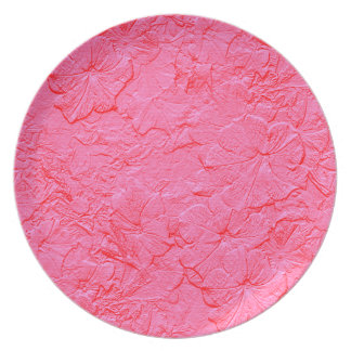 Sculpted Petunias, Pink Melamine Kitchen Plate