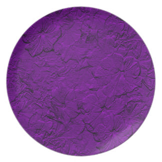 Sculpted Petunias, Purple Melamine Kitchen Plate