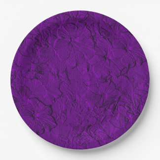 Sculpted Petunias Purple-Paper Party Plates