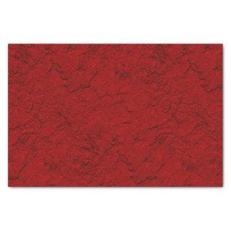"Sculpted Petunias Red-Tissue Paper Wrap 10"" X 15"" Tissue Paper"