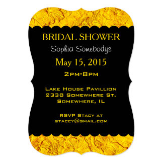 Sculpted Petunias Yellow-Party Invitation Template