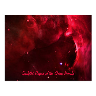 Sculpted Region of the Orion Nebula Postcard