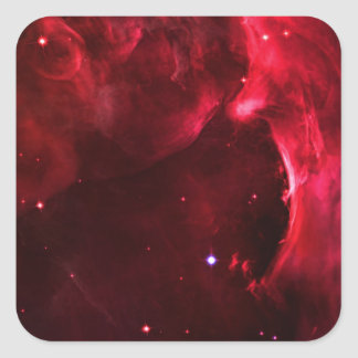 Sculpted Region of the Orion Nebula Square Sticker