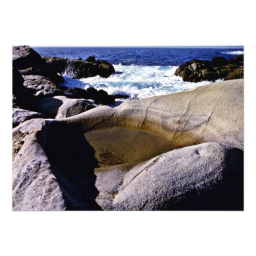 Sculpted Rock - Pt. Lobos State Preserve Personalized Invites