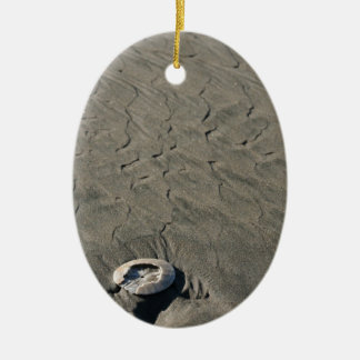 Sculpted Sand & Shell Ceramic Ornament