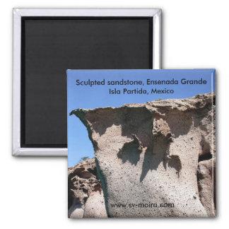 Sculpted sandstone, Ensenada Grande Magnet