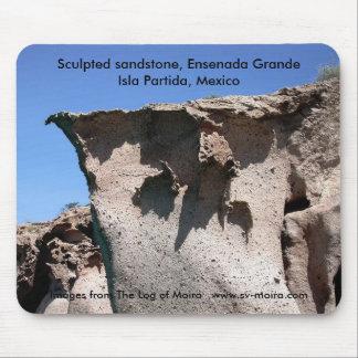 Sculpted sandstone, Ensenada Grande Mouse Pad