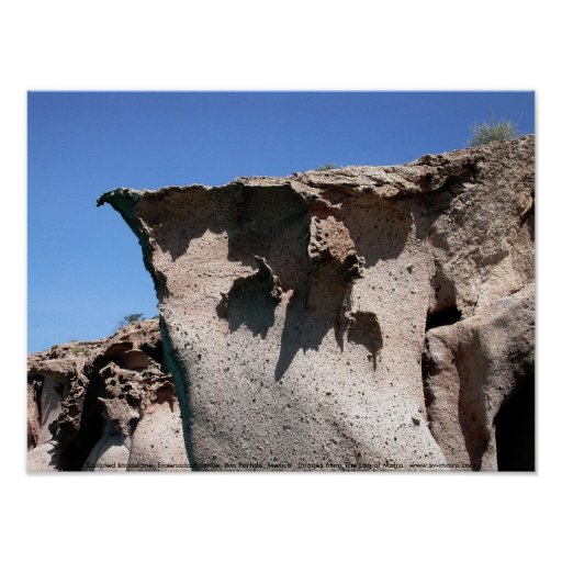 Sculpted sandstone, Ensenada Grande Print
