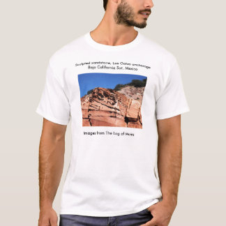 Sculpted sandstone, Los Gatos anchorage T-Shirt