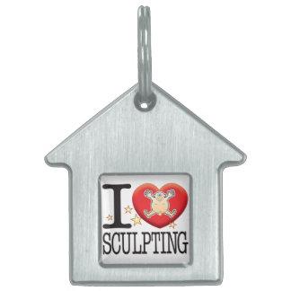 Sculpting Love Man Pet ID Tag