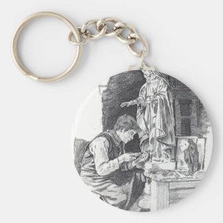 Sculptor Boy Keychain