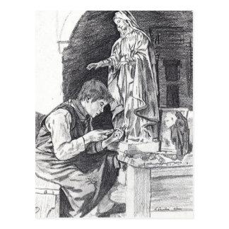 Sculptor Boy Post Card