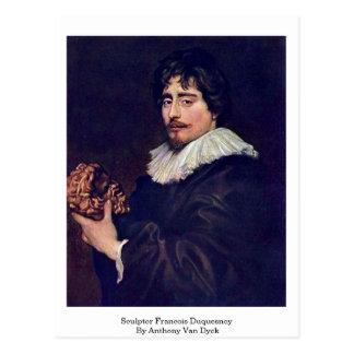 Sculptor Francois Duquesnoy By Anthony Van Dyck Postcard