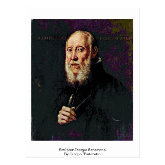Sculptor Jacopo Sansovino By Jacopo Tintoretto Postcard