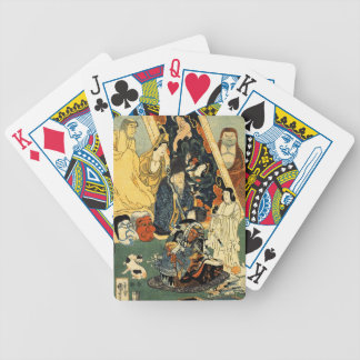 Sculptor Jingoro surrounded by statues by Utagawa Bicycle Playing Cards