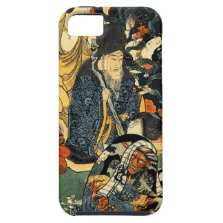 Sculptor Jingoro surrounded by statues by Utagawa iPhone SE/5/5s Case