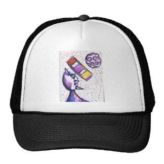Sculptural dance of the interrelated spheroid mesh hats