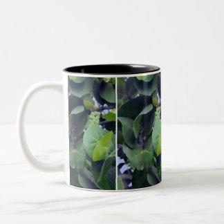 Sculptural Leaves Two-Tone Coffee Mug