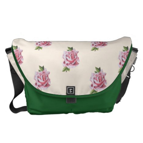 Sculptural Roses on a Travel Bag - (1)