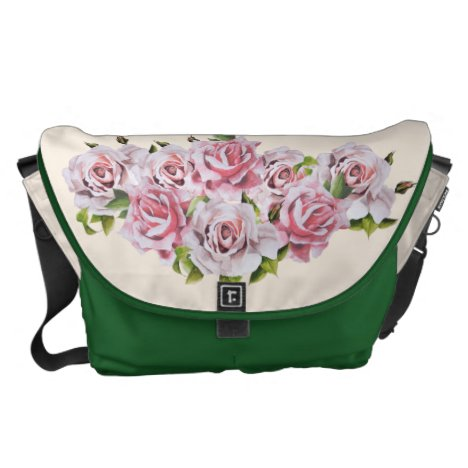 Sculptural Roses on a Travel Bag - (2)
