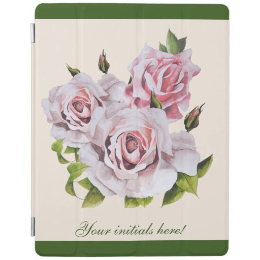 Sculptural Roses on an iPad Cover