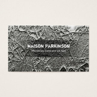 sculptural texture business card