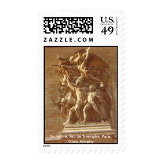 """""""Sculpture, Arc de Triomphe, Paris"""" Postage Stamp"""