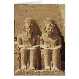 Sculpture at Abu Simbel -Cairo, Egypt Greeting Card