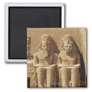Sculpture at Abu Simbel -Cairo, Egypt Magnets