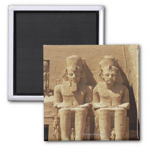 Sculpture at Abu Simbel -Cairo, Egypt Magnets