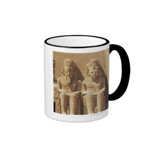 Sculpture at Abu Simbel -Cairo, Egypt Mugs