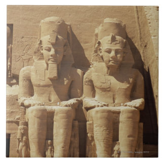 Sculpture at Abu Simbel -Cairo, Egypt Tile