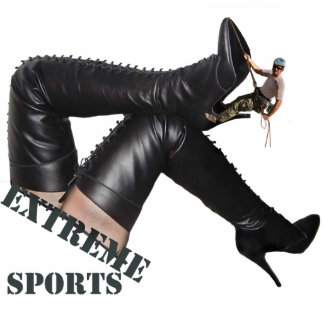 Sculpture - Boot Climbing - Extreme Sports