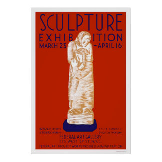 Sculpture Exhibition 1936 WPA Poster