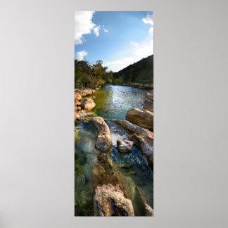 Sculpture Falls 4 Barton Creek in Austin Texas Posters