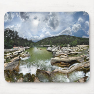 Sculpture Falls 5 - Barton Creek in Austin Texas Mouse Pad